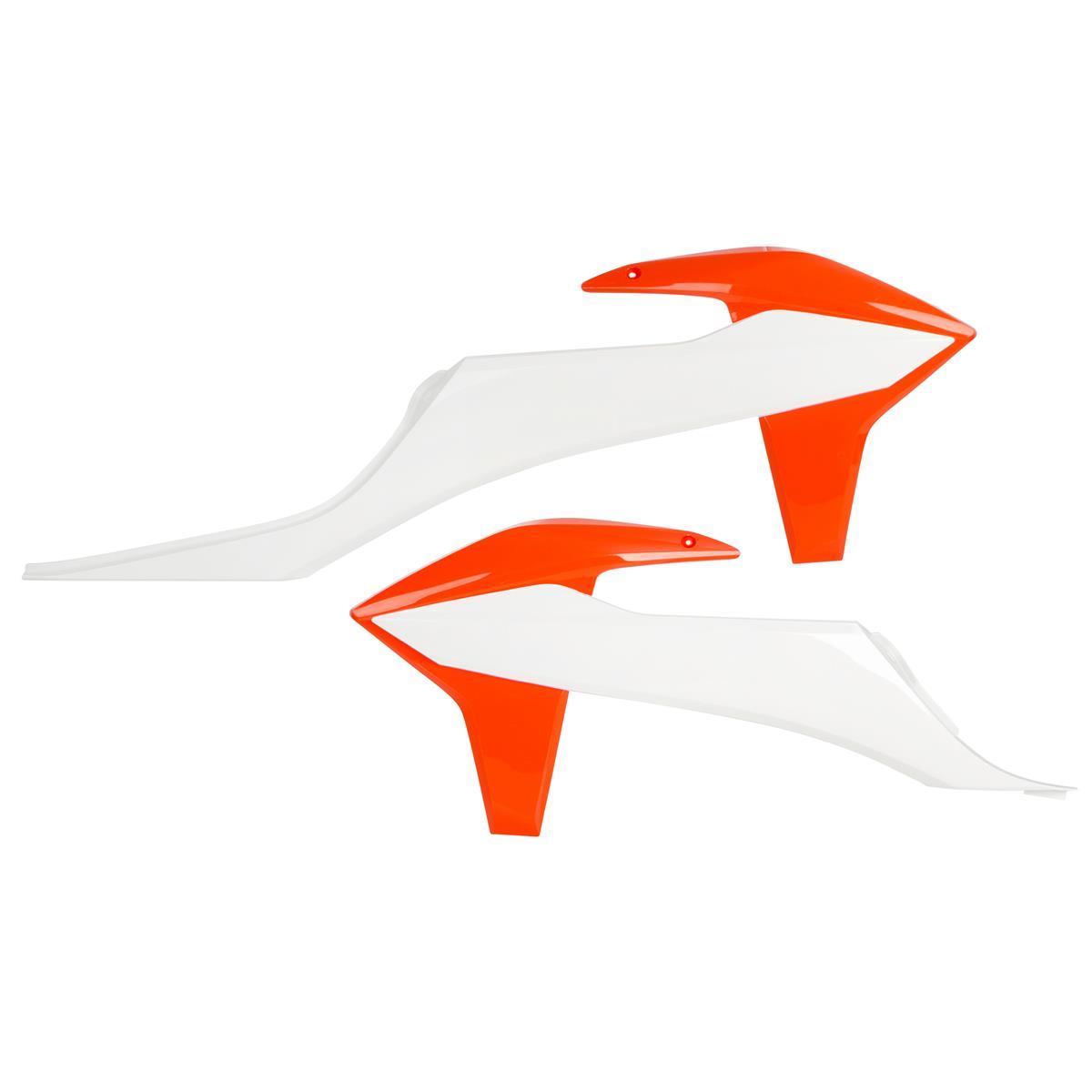 Acerbis Kühlerspoiler  KTM SX/SX-F 19-20, EXC/EXC-F '20, Weiß/Orange
