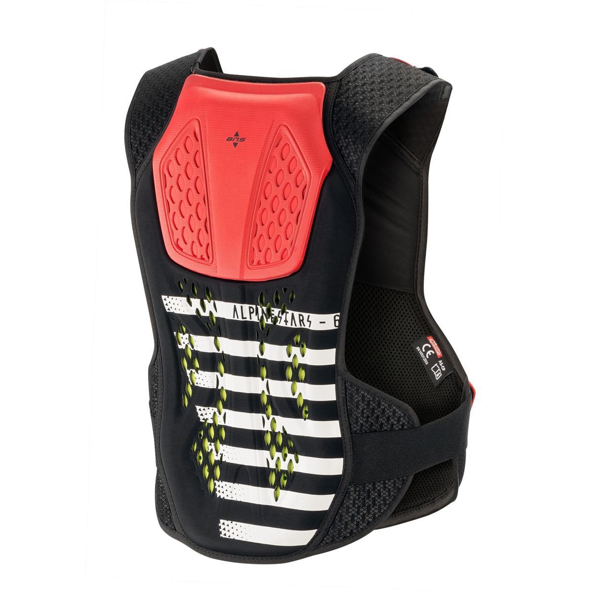 schwarz weiß rot Alpinestars NUCLEON KR-C Motorrad Brustprotektor Level 2