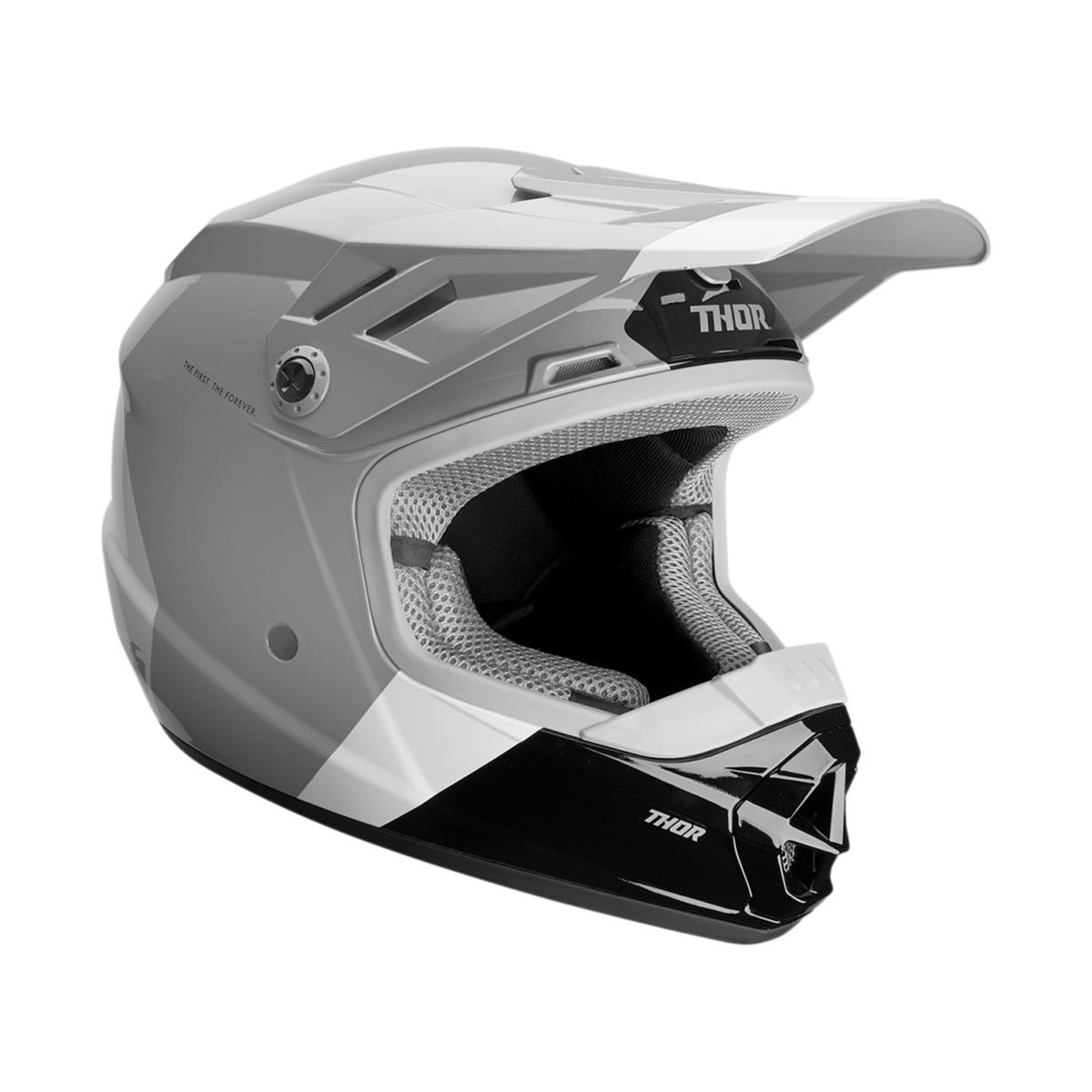 Thor Kids Helm Sector MIPS Bomber - Charcoal/Weiß