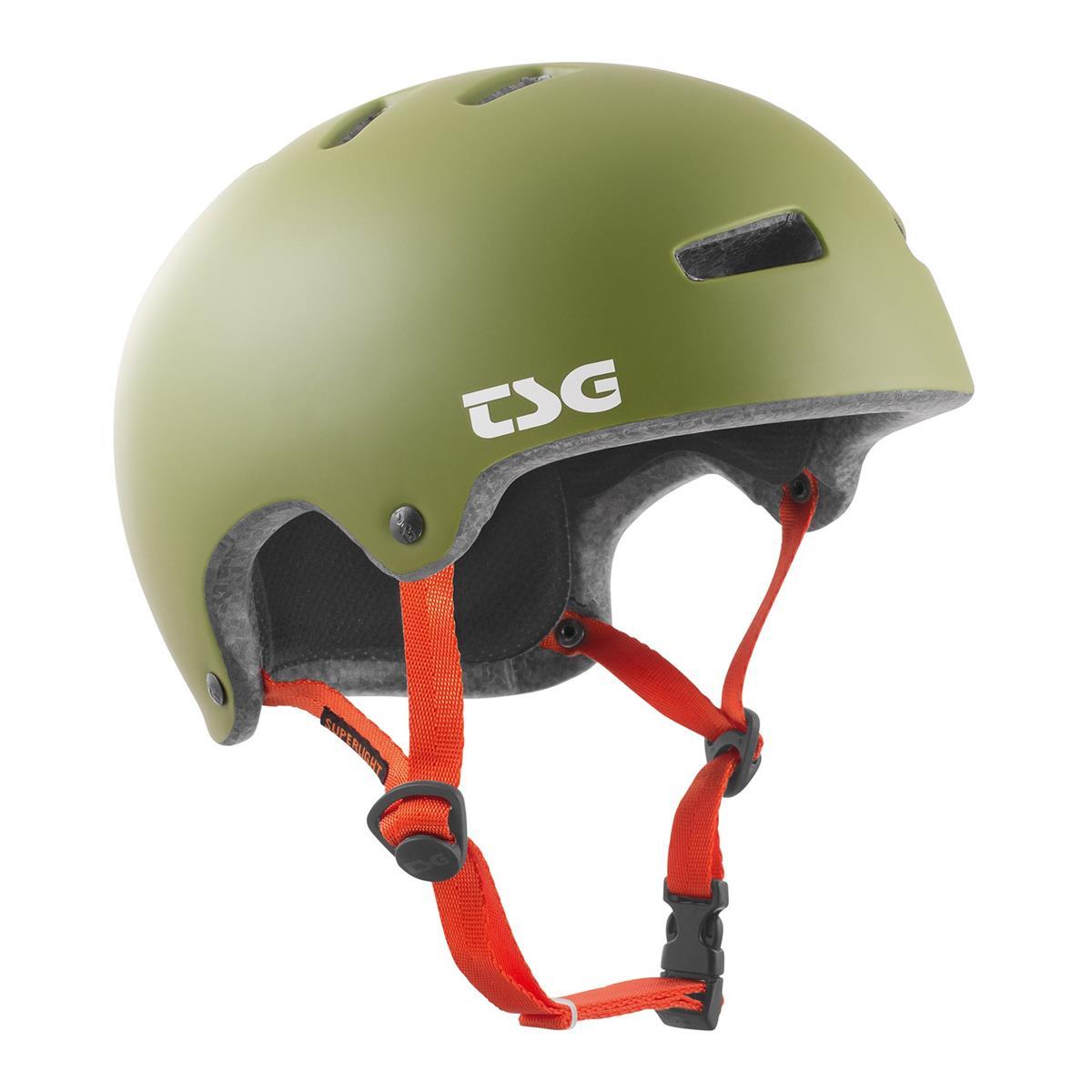 TSG BMX/Dirt Helm Superlight Solid Color - Satin Olive
