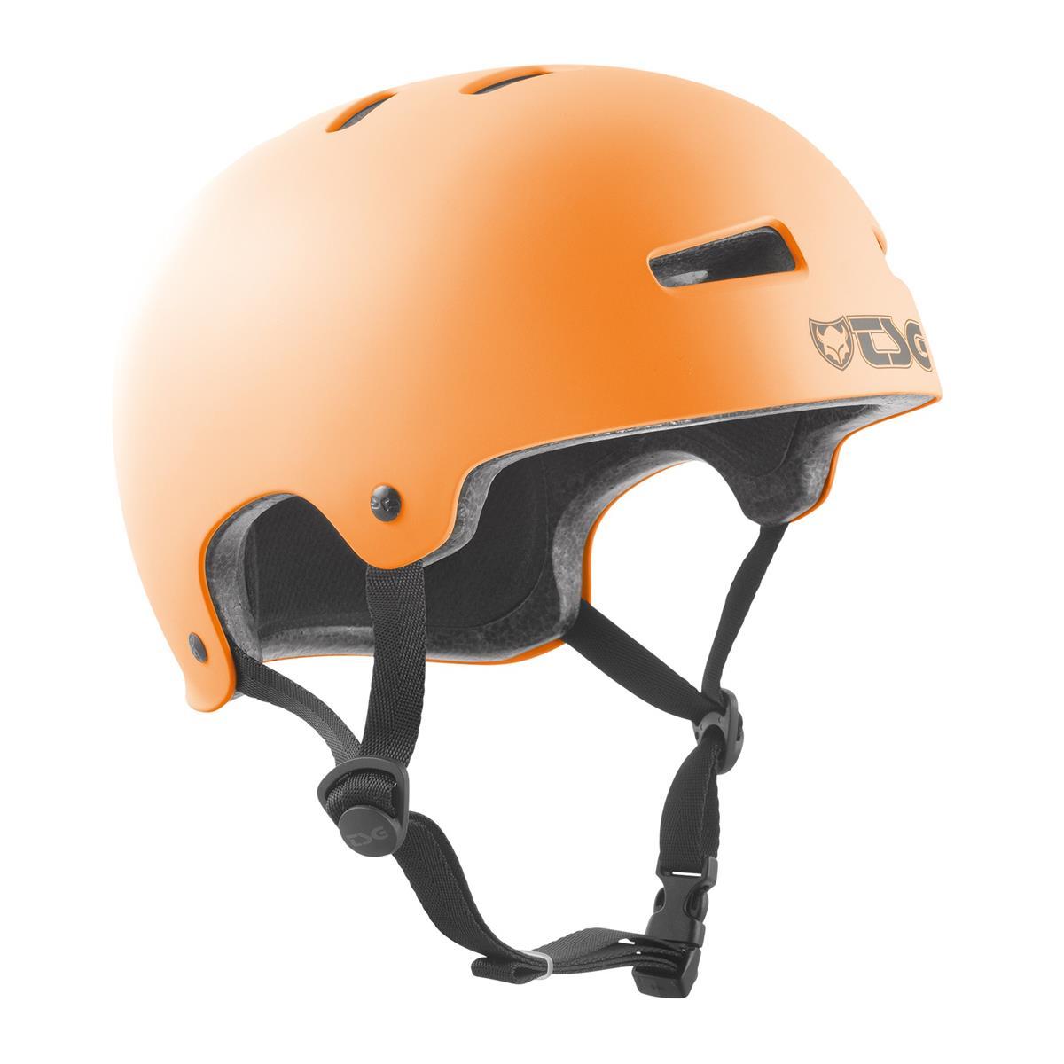 TSG BMX/Dirt Helm Evolution Solid Color - Satin Acid Orange