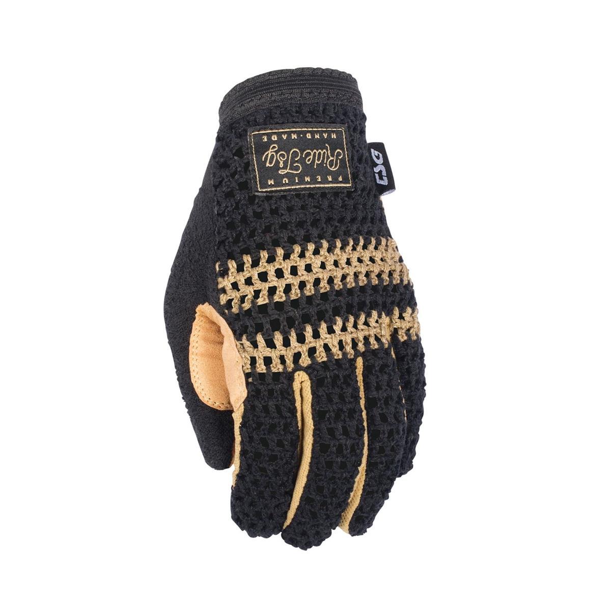 TSG Bike-Handschuhe Slim Knit Schwarz/Beige