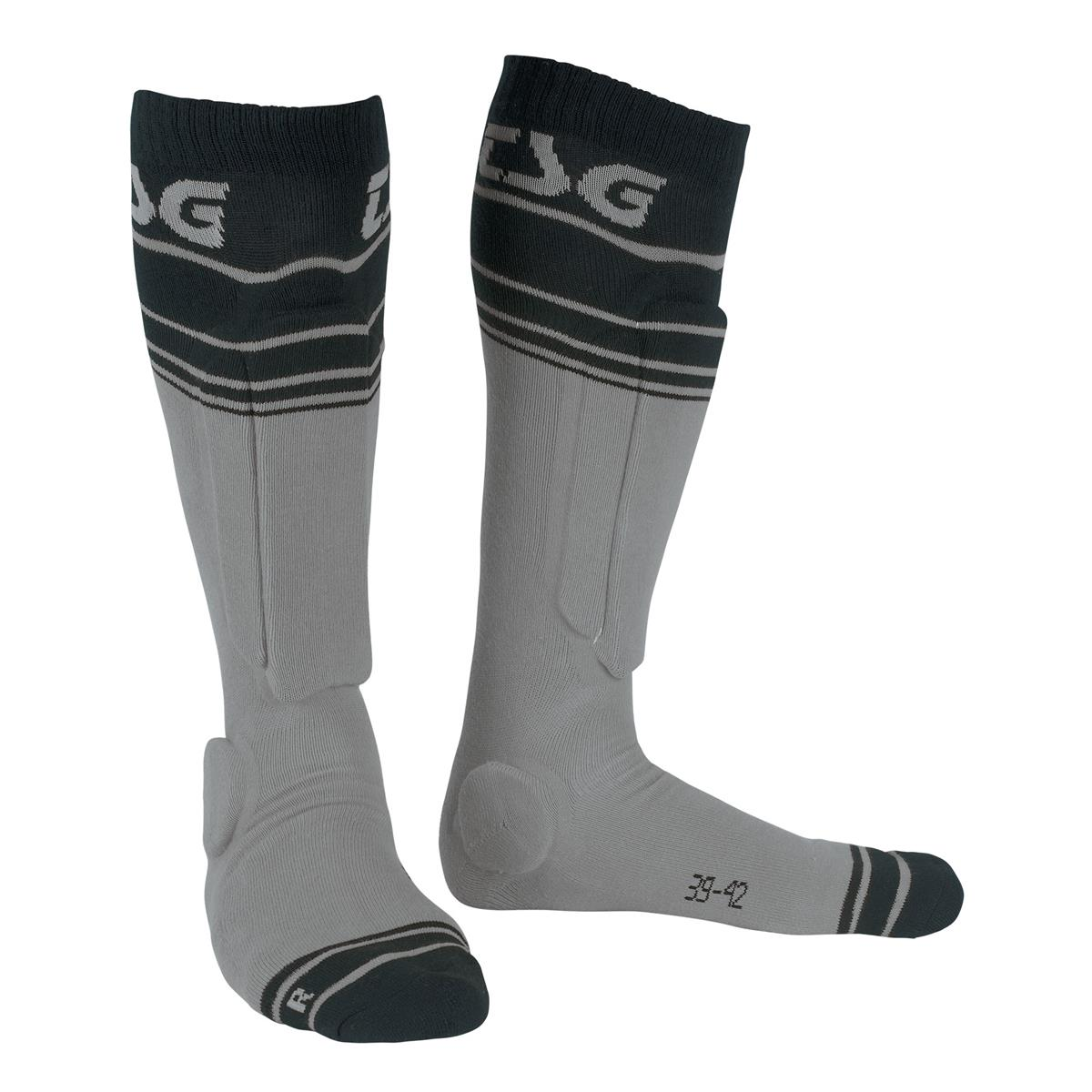 TSG Bike-Socken Riot Grey Striped