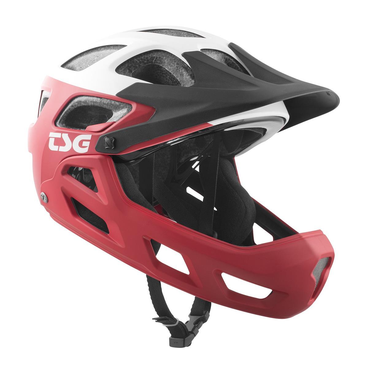 TSG Kids Trail-MTB Helm Seek Graphic Design - Block Rot/Weiß