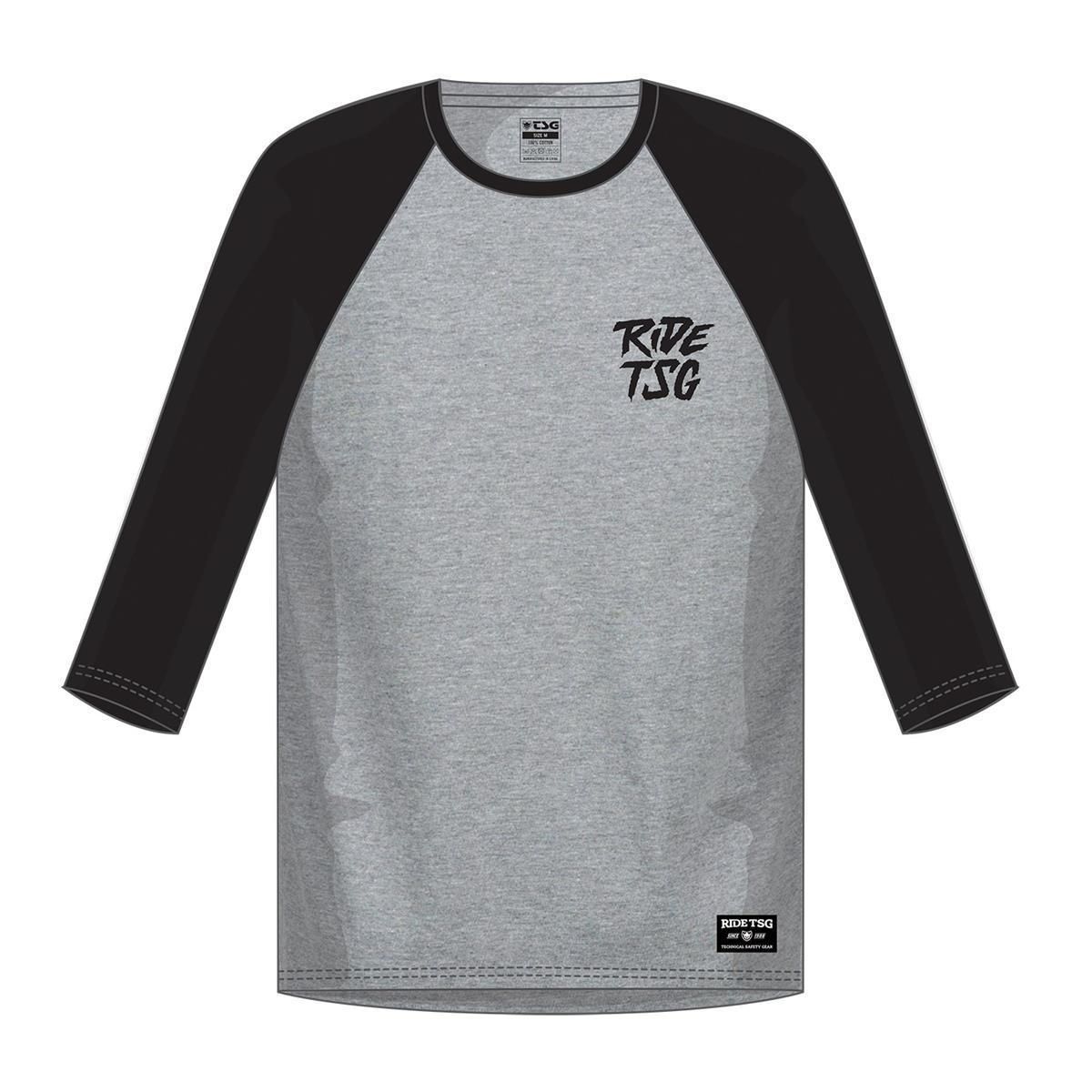 TSG 3/4-Arm Shirt Ripped Grau/Schwarz