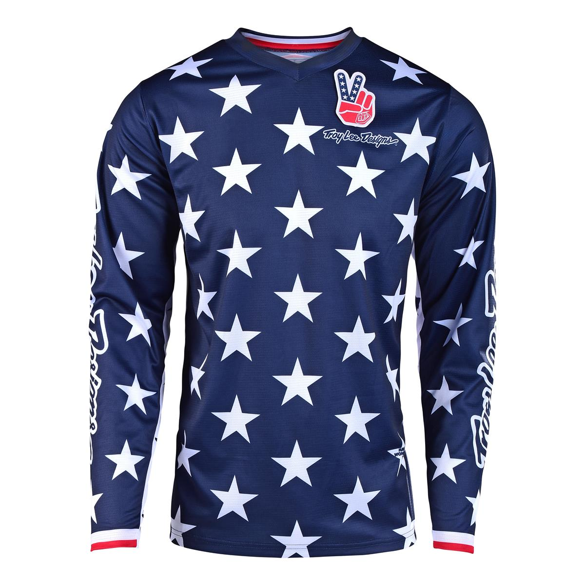 672b80a3a Troy Lee Designs Kids Jersey GP Independence Navy Red - Limited ...