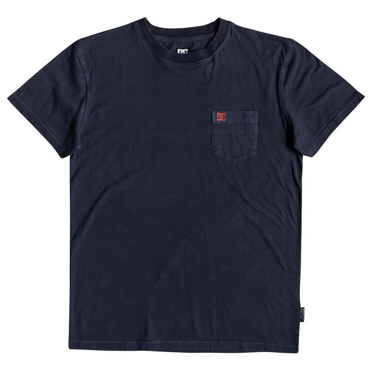 DC T-Shirt Dyed Pocket Crew Black Iris