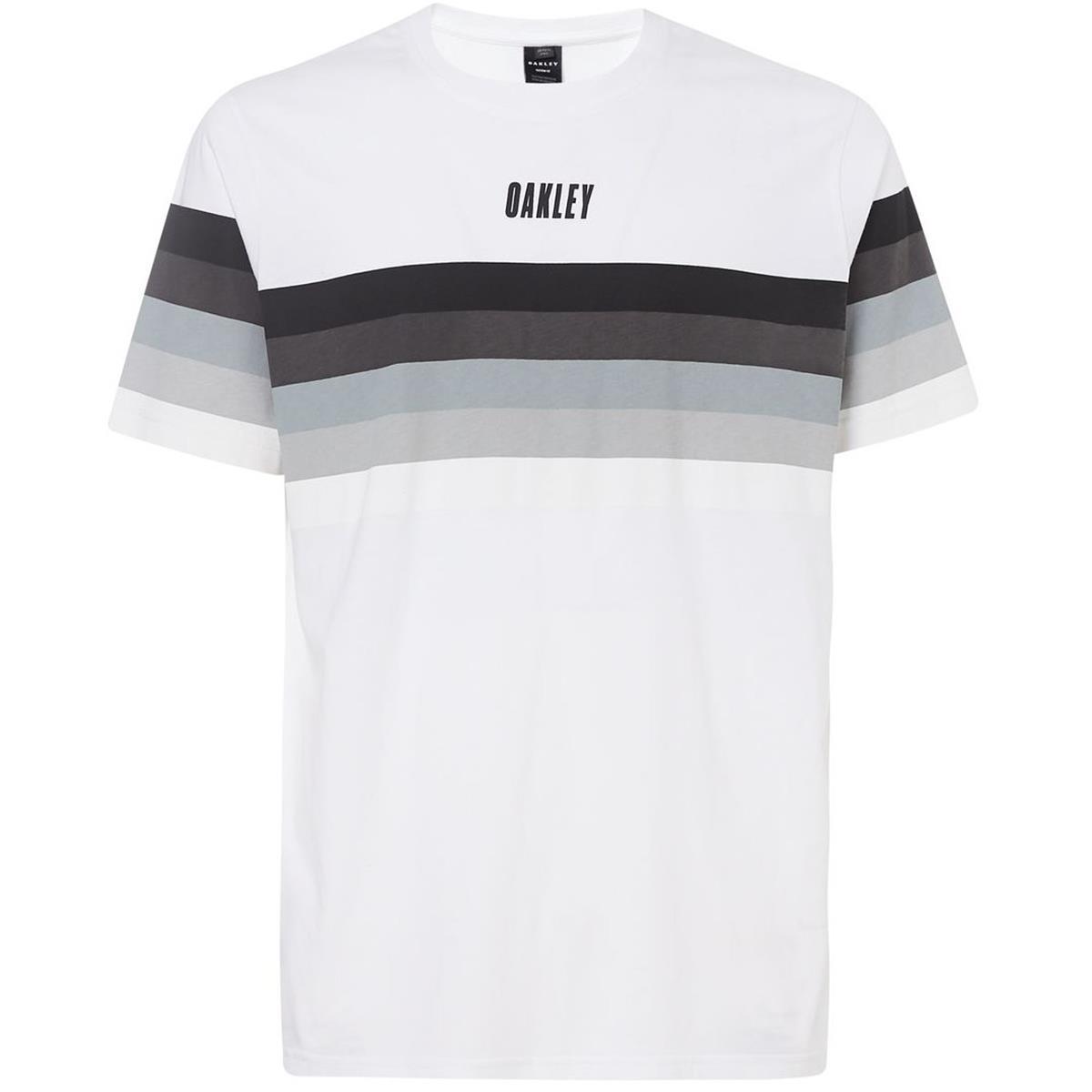Oakley T-Shirt TN Racing Sunset Stripe Weiß
