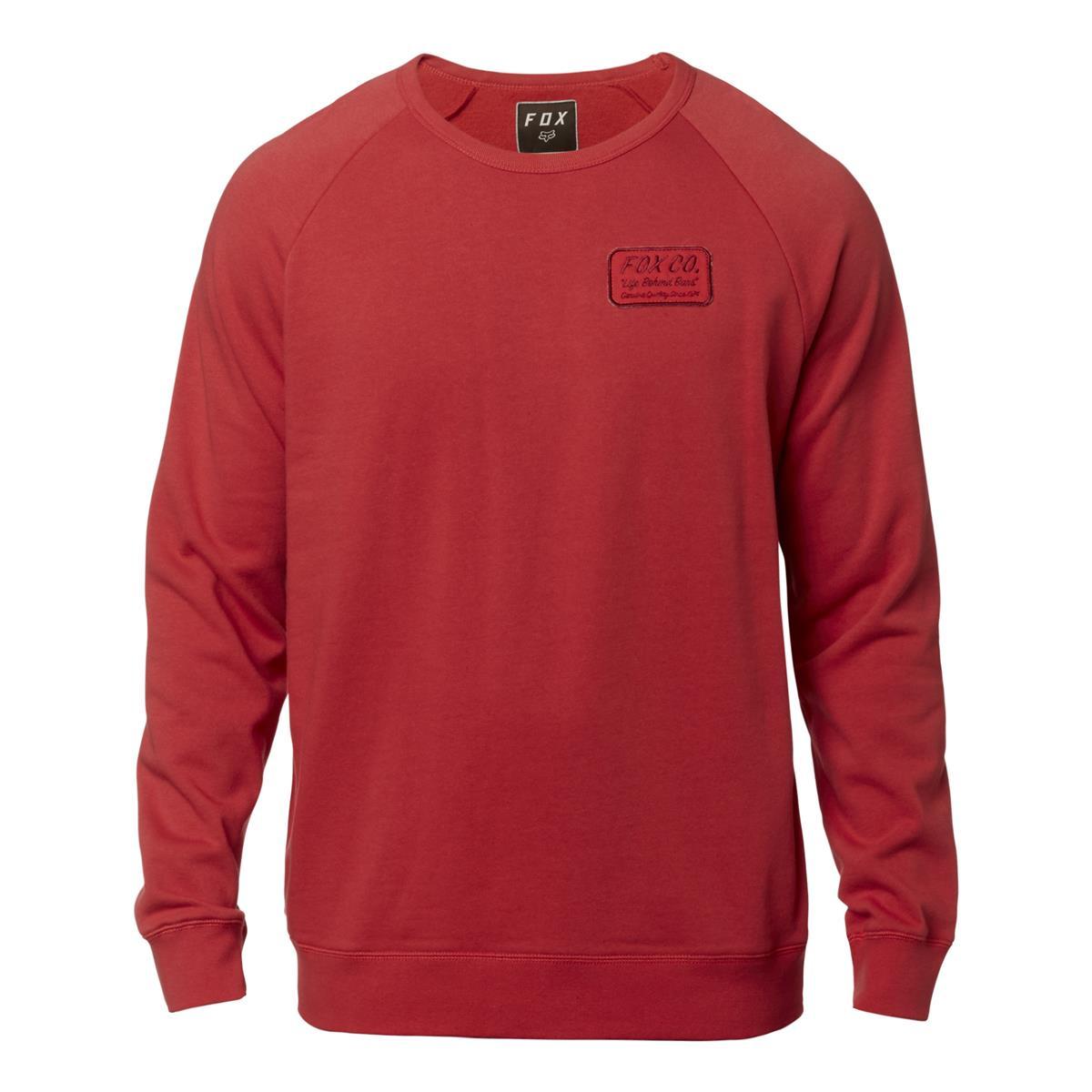 Fox Sweatshirt Resin Crew Rio Red