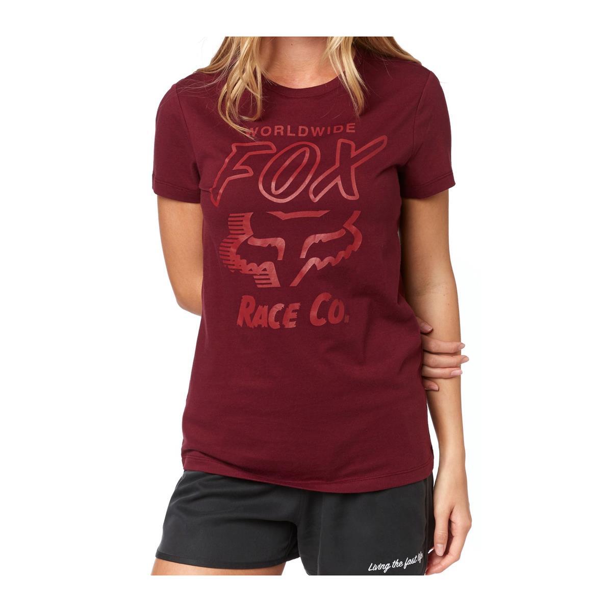 Fox Girls T-Shirt Worldwide Cranberry