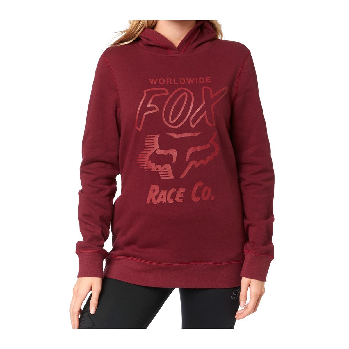 Fox Girls Fleece Hoody Worldwide Cranberry