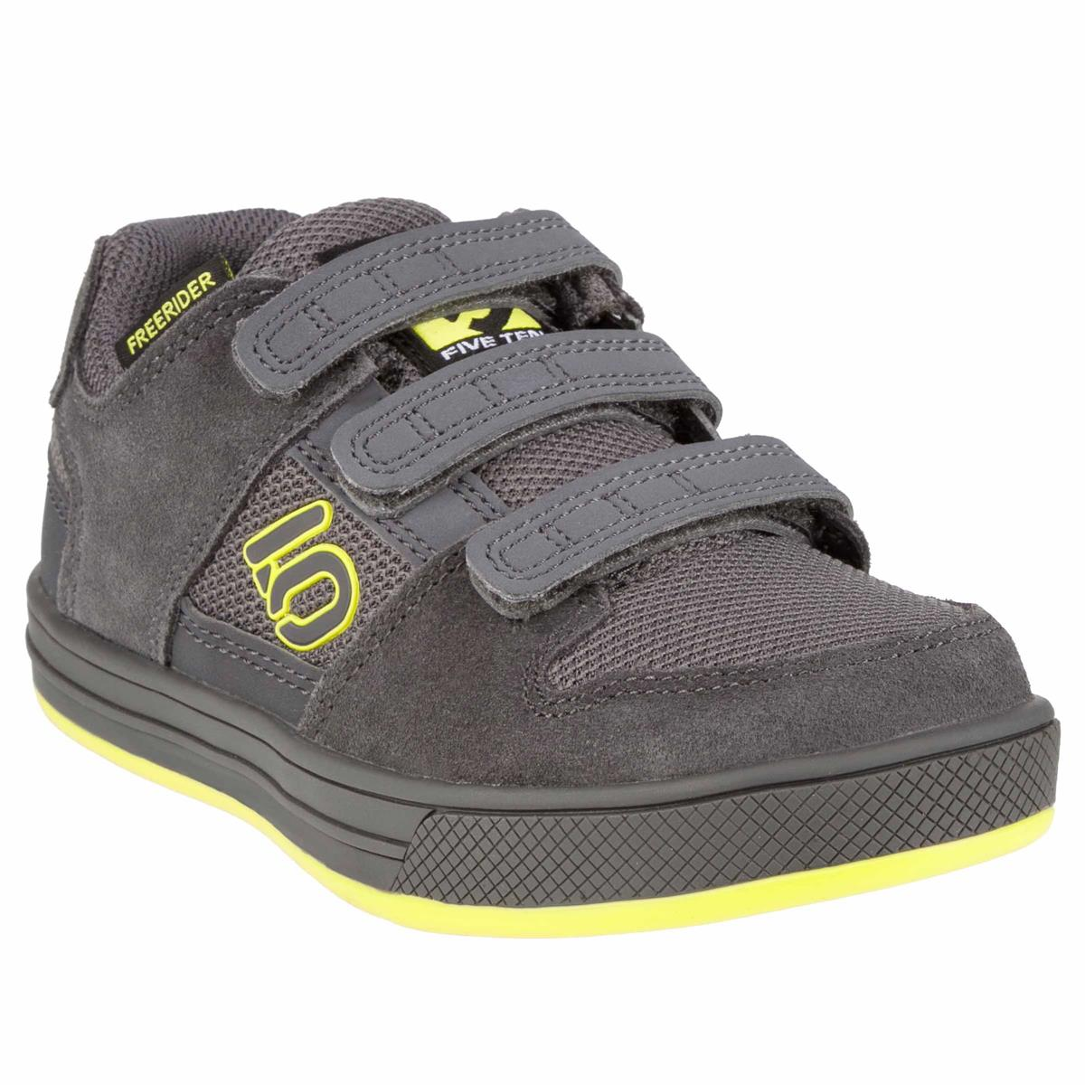 watch d77ce ececd Five Ten Kids MTB-Schuhe Freerider VCS Grey Six/Shock Yellow/Core Black