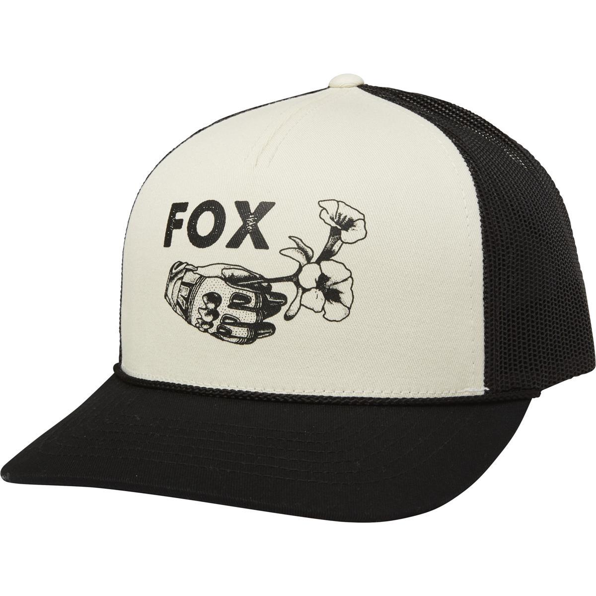 Fox Snapback Cap Live Fast Beige/Schwarz