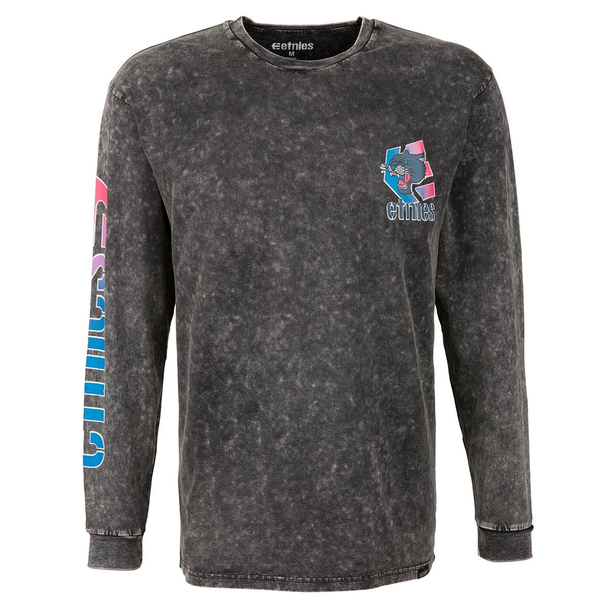 Etnies T-Shirt Retro Ls Charcoal
