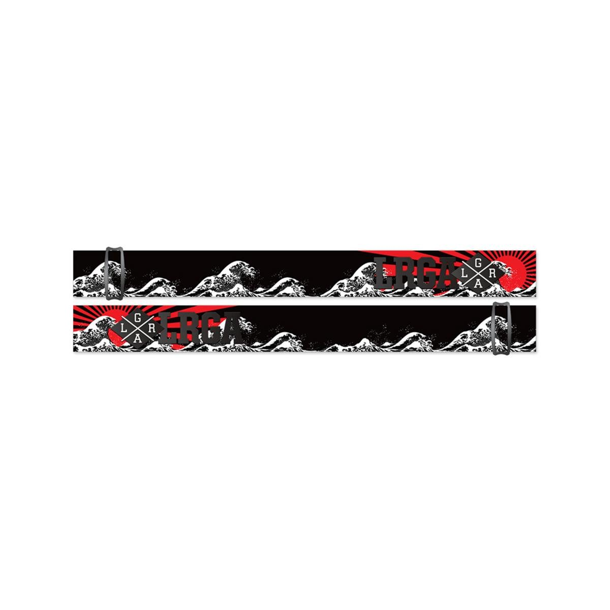 Loose Riders Strap für Crossbrille Cult of Shred Rising Sun - Rot/Schwarz/Weiß