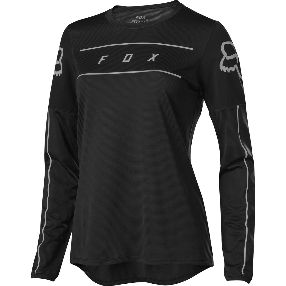 Fox Girls Downhill-Jersey Flexair Schwarz