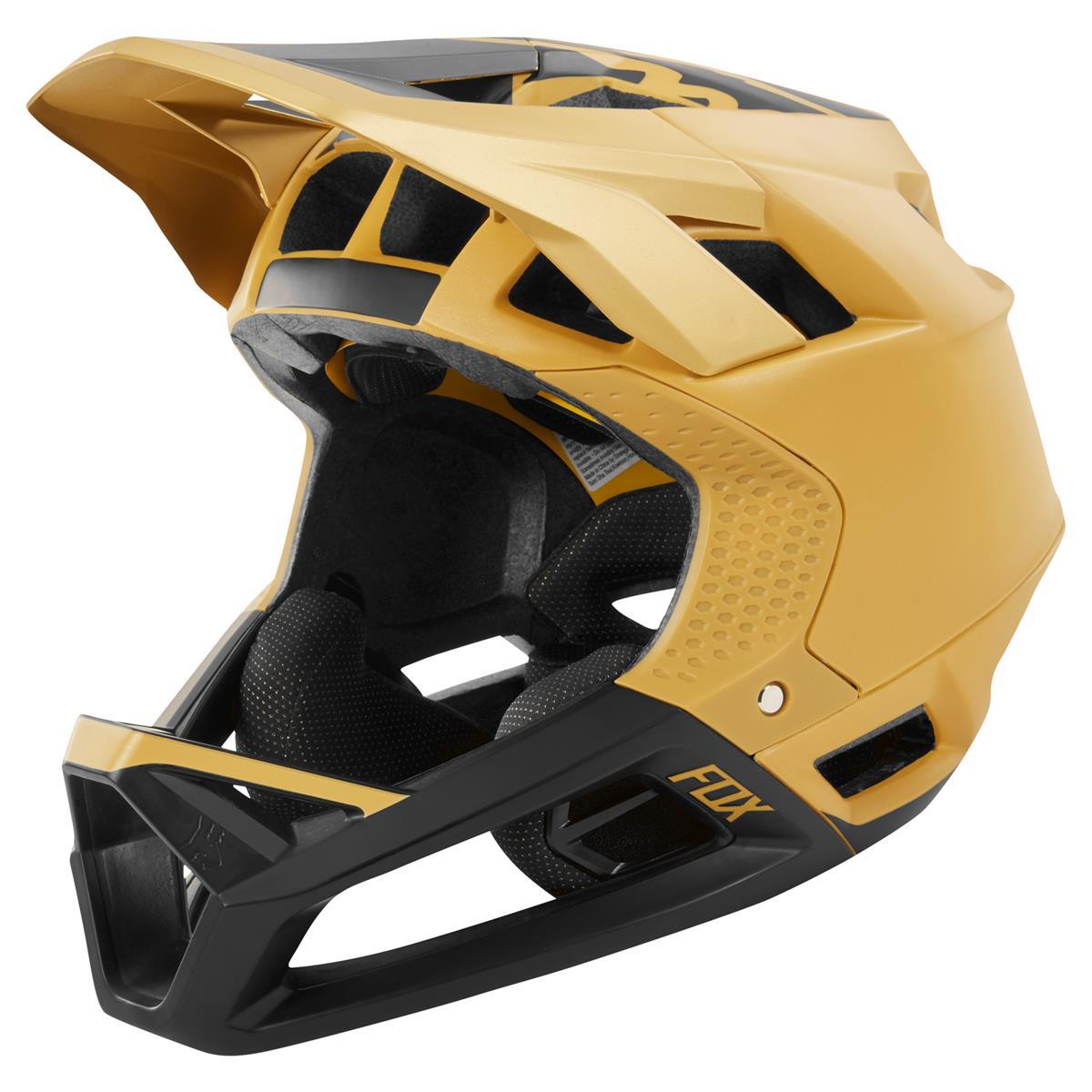 Fox Downhill-MTB Helm Proframe Matte Gold