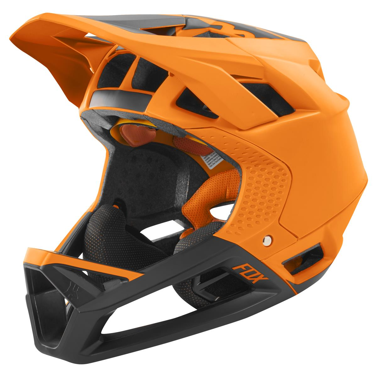 Fox Downhill-MTB Helm Proframe Matte Atomic Orange
