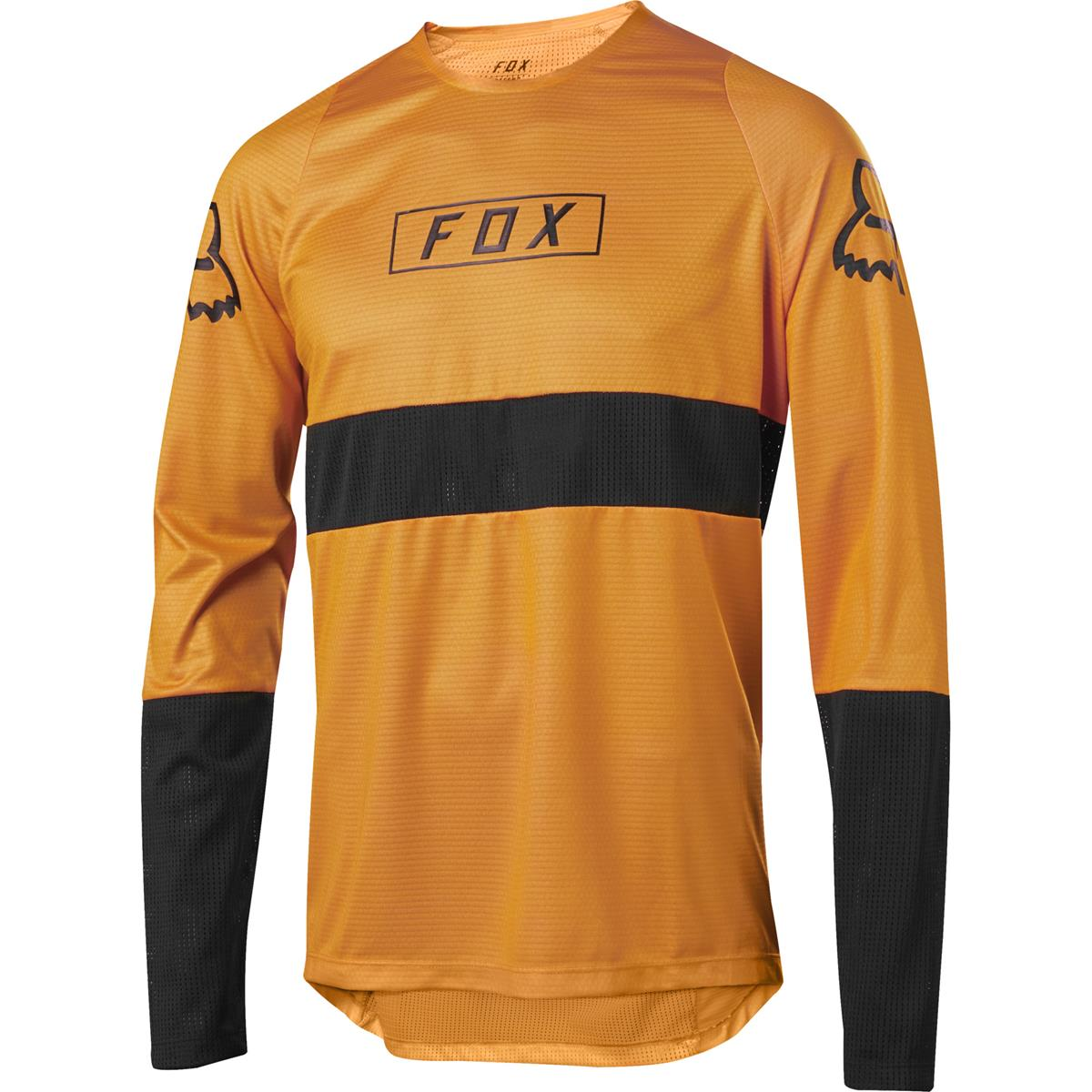 Fox Downhill-Jersey Langarm Defend Atomic Orange