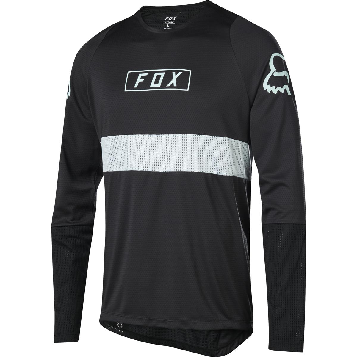Fox Downhill-Jersey Langarm Defend Schwarz