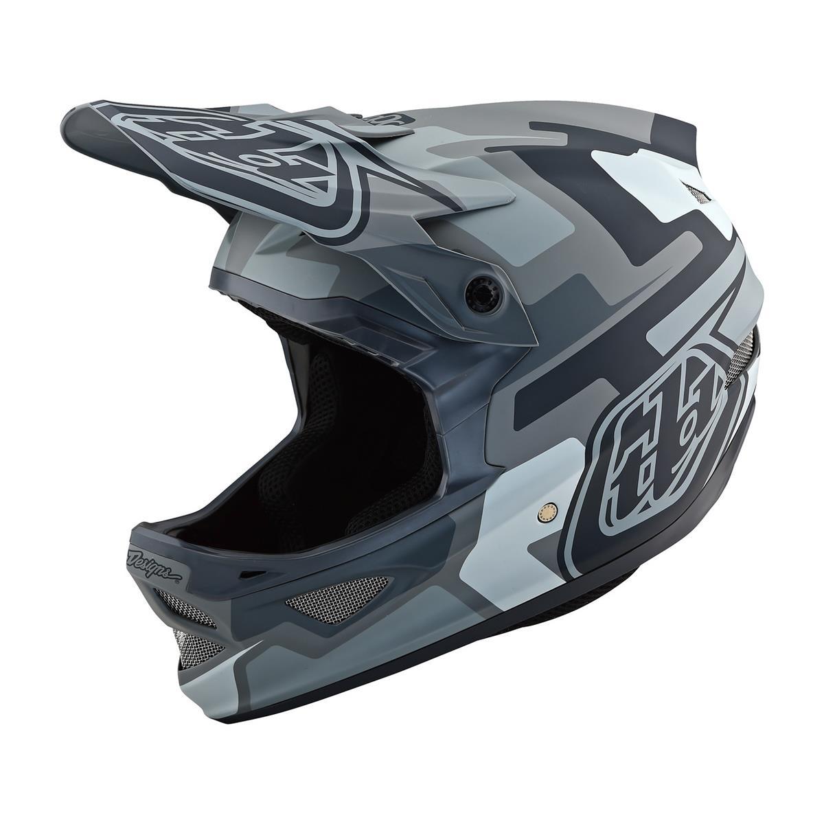 Troy Lee Designs Downhill-MTB-Helm D3 Fiberlite Speedcode - gris