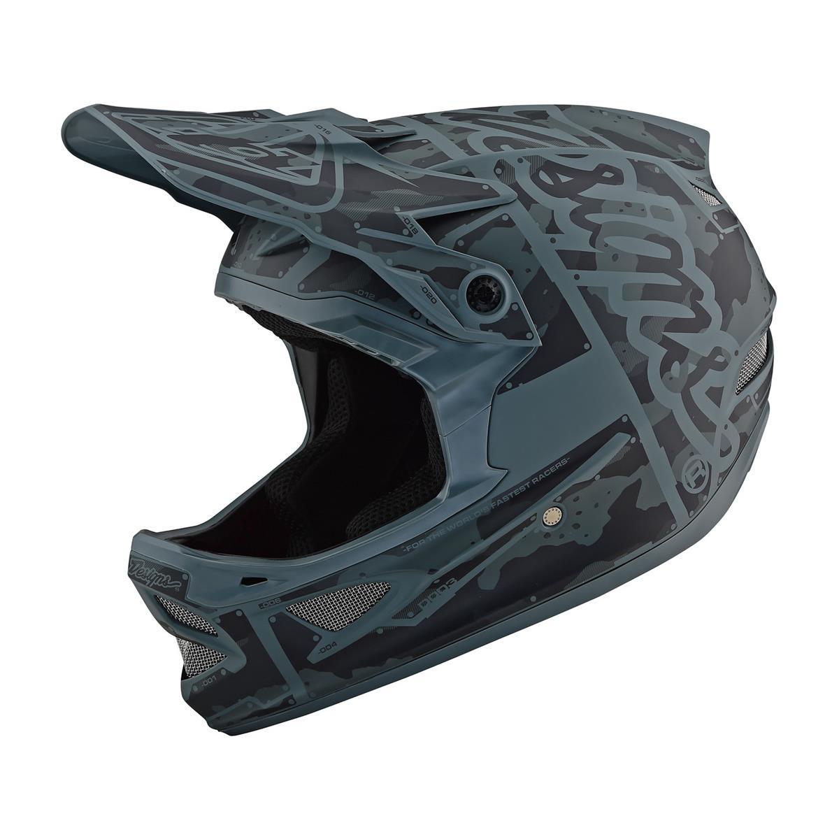 Troy Lee Designs Downhill-MTB-Helm D3 Fiberlite Factory - Camo/Grün