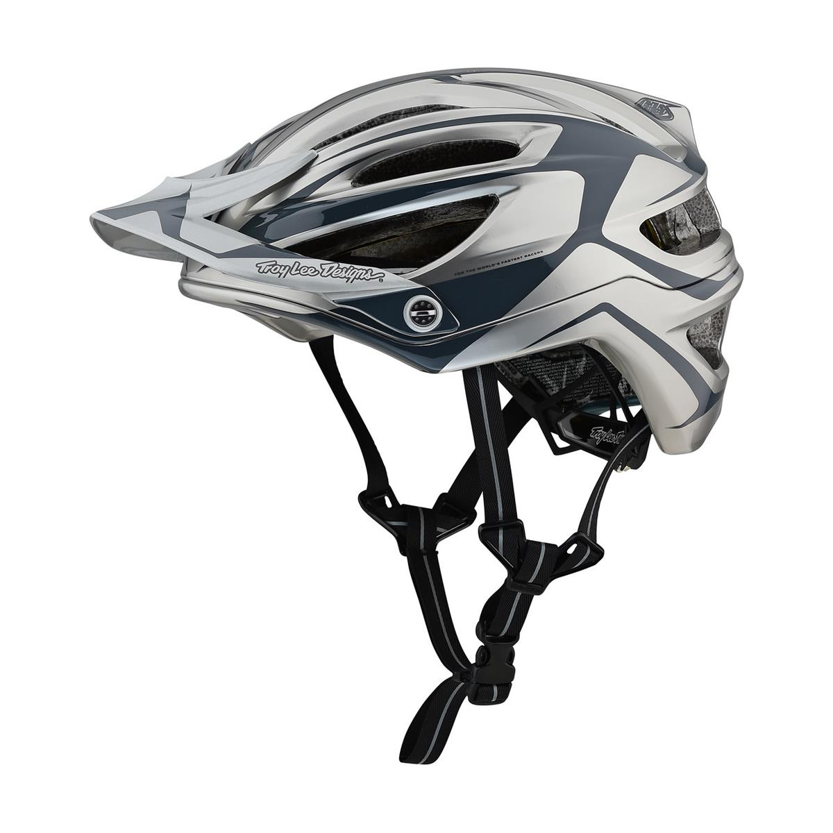 Troy Lee Designs Enduro-MTB Helm A2 MIPS Dropout - Silber