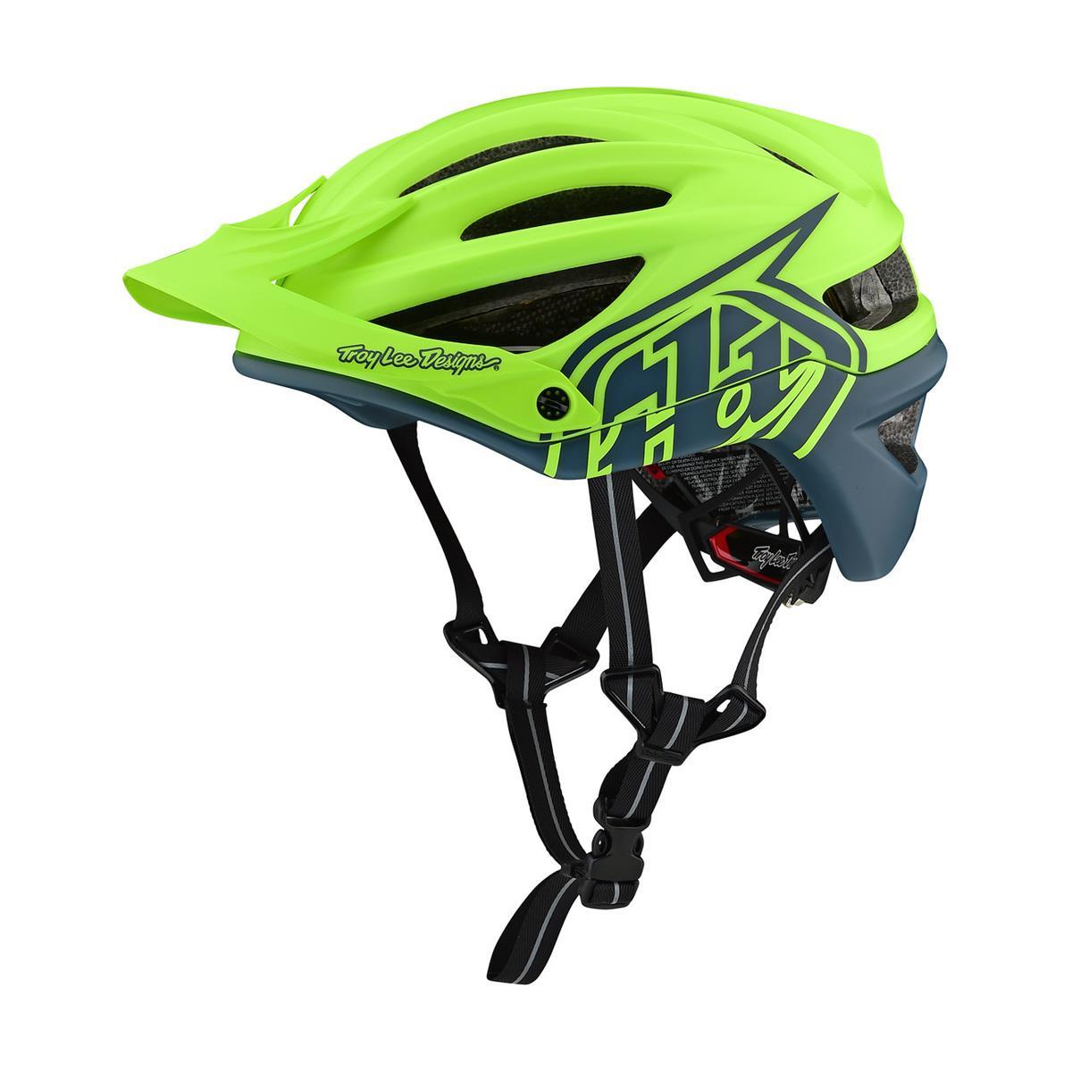Troy Lee Designs Enduro-MTB Helm A2 MIPS Decoy - Gelb/Air Force Blau