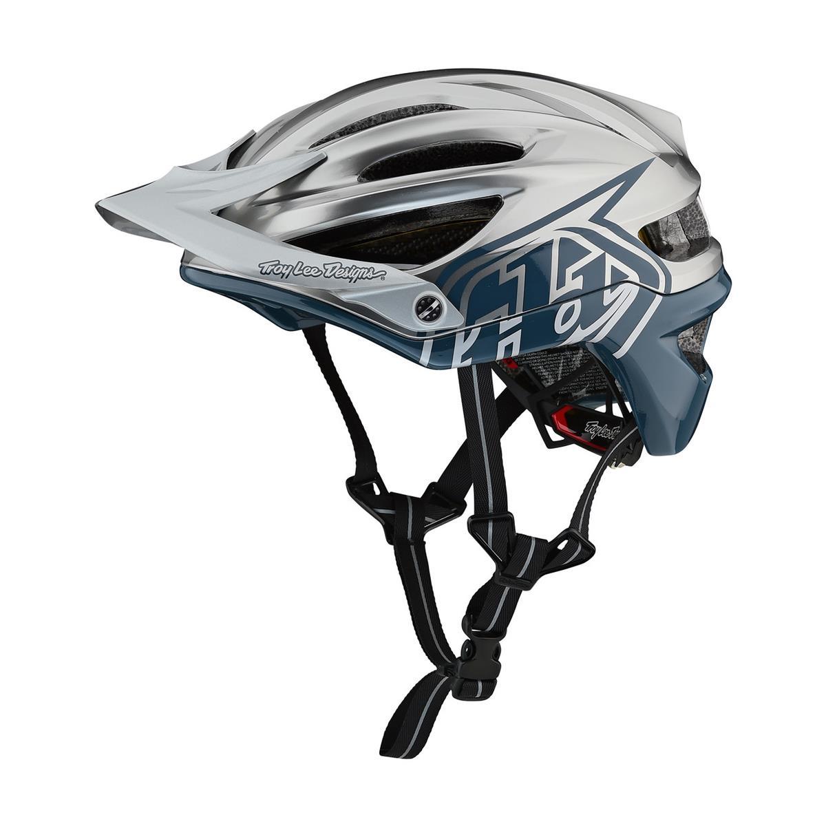 Troy Lee Designs Enduro-MTB Helm A2 MIPS Decoy - Air Force Blau/Silber