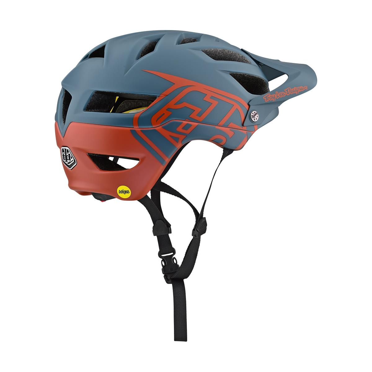 All Sizes Troy Lee Designs A1 MIPS Classic Air Force Blue//Clay MTB Helmet