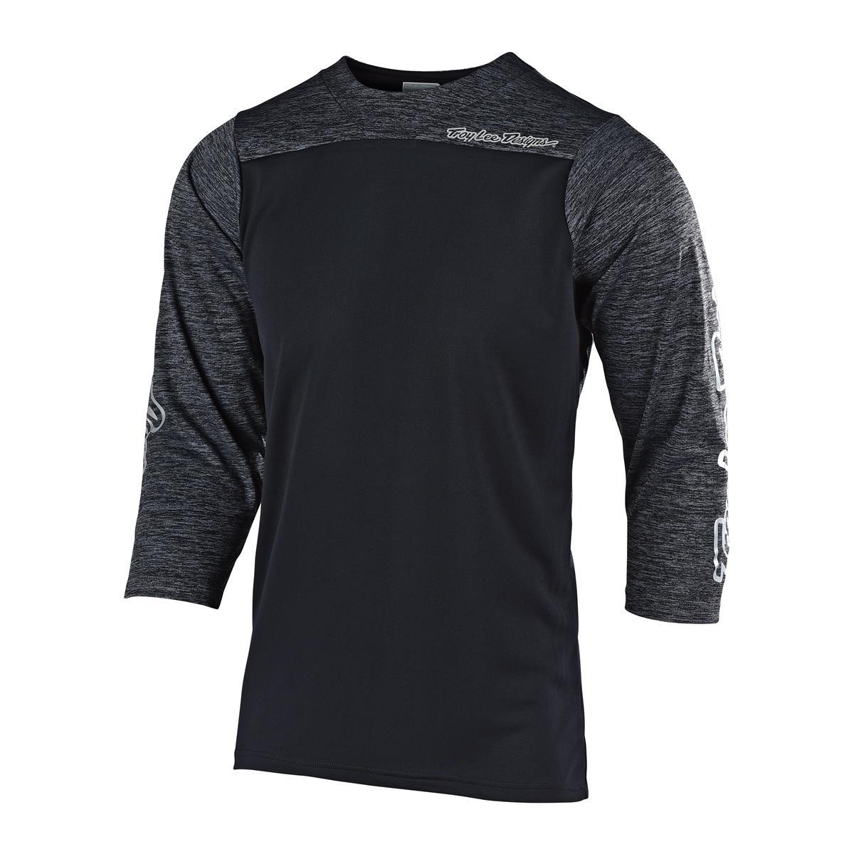 Troy Lee Designs Trail-Jersey 3/4-Arm Ruckus Block - Schwarz/Schwarz meliert