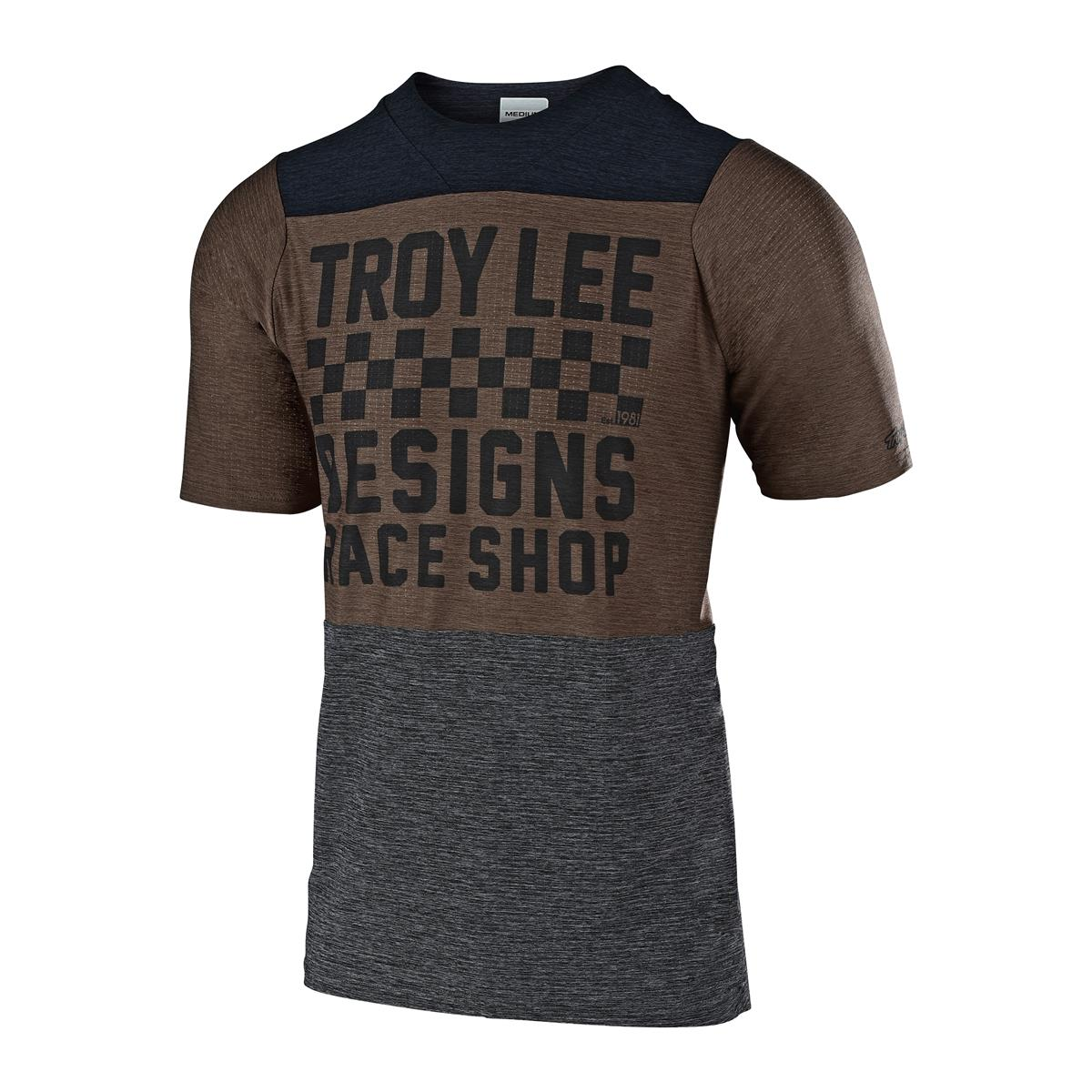 Troy Lee Designs Trail-Jersey Skyline Air Checkers - Heather Black/Heather Light Mokka