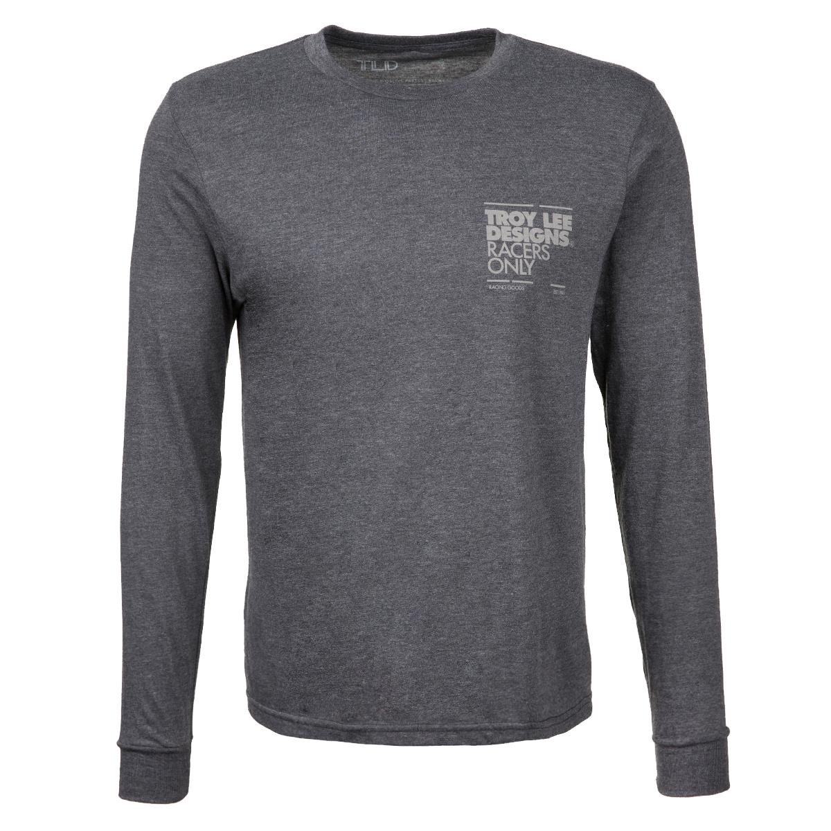 Troy Lee Designs Trail-Jersey Langarm Flowline Racers Only - Charcoal Heather