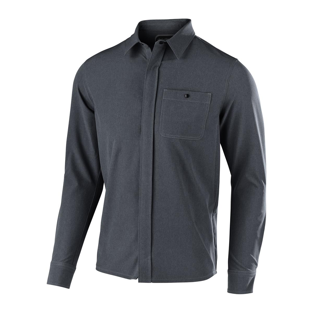 Troy Lee Designs Trail-Jersey Langarm Grind Flannel Heather Charcoal