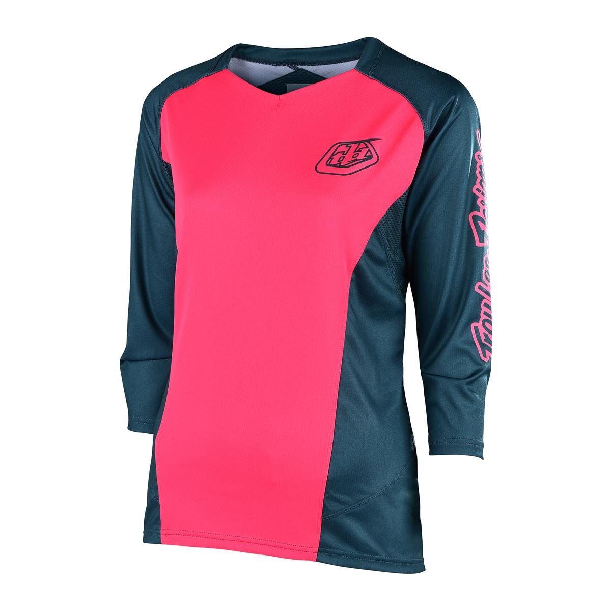 Troy Lee Designs Girls Trail-Jersey 3/4-Arm Ruckus Corsair/Coral