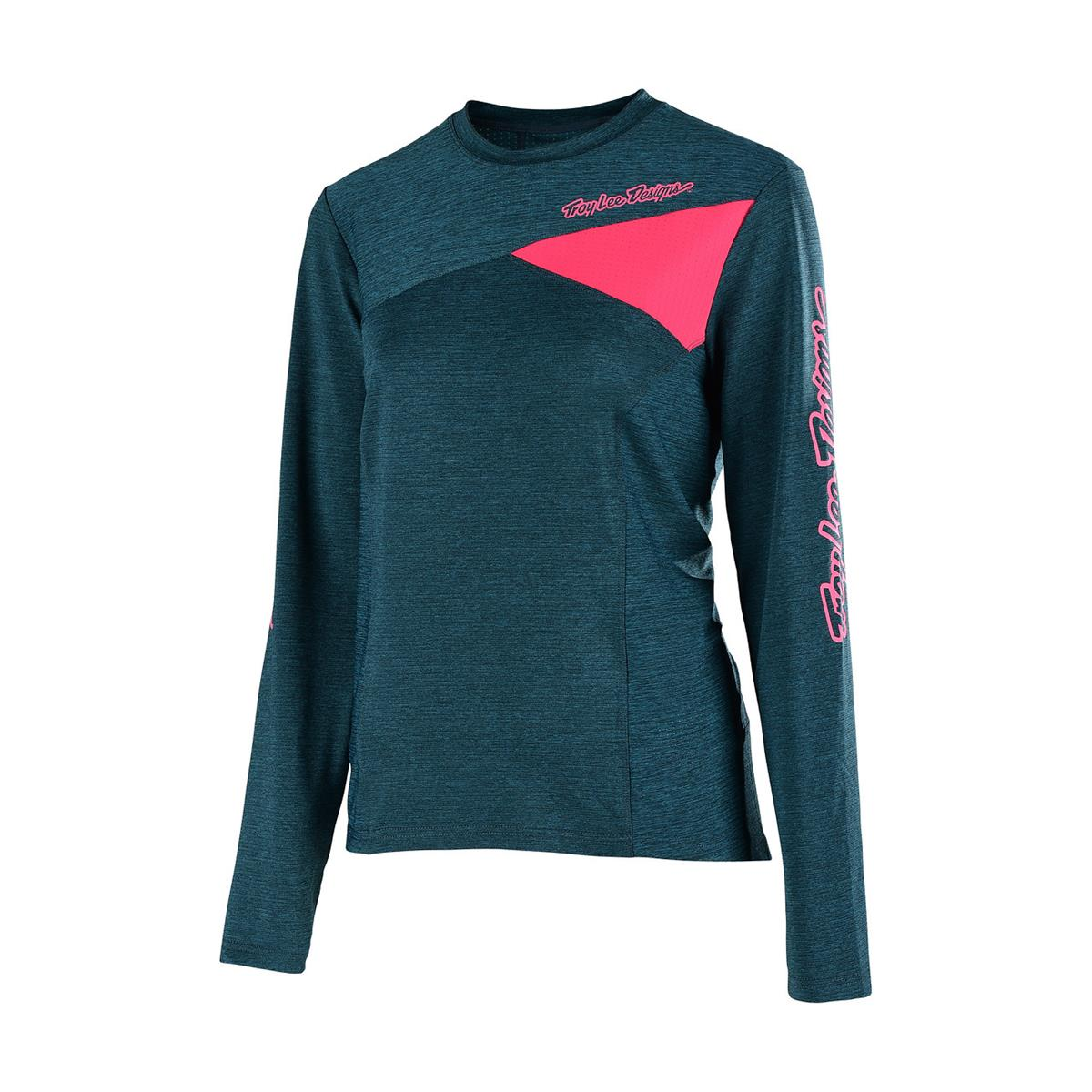 Troy Lee Designs Girls Trail-Jersey Langarm Skyline Heather Corsair/Coral