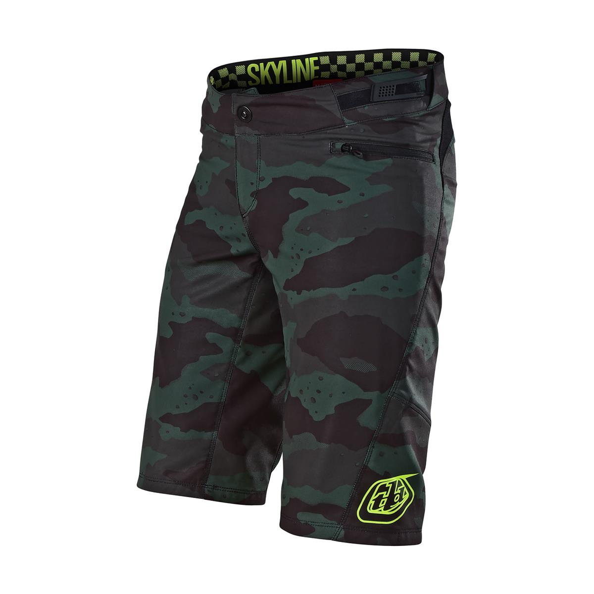 Troy Lee Designs Girls Trail-Short Skyline Camo Stealth/Schwarz
