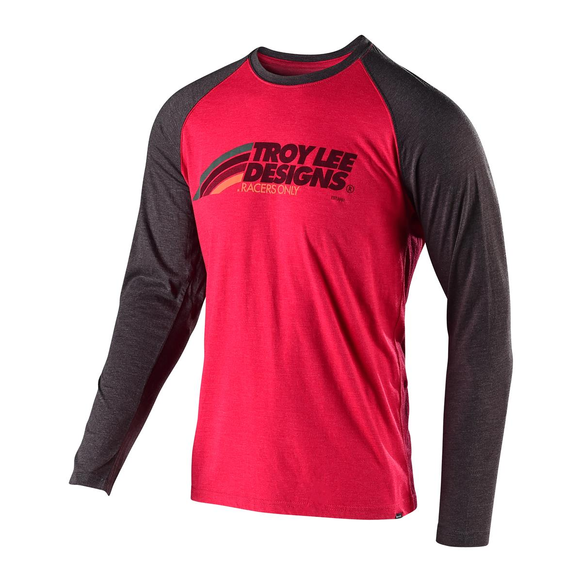 Troy Lee Designs Langarmshirt Velo Rot/Charcoal