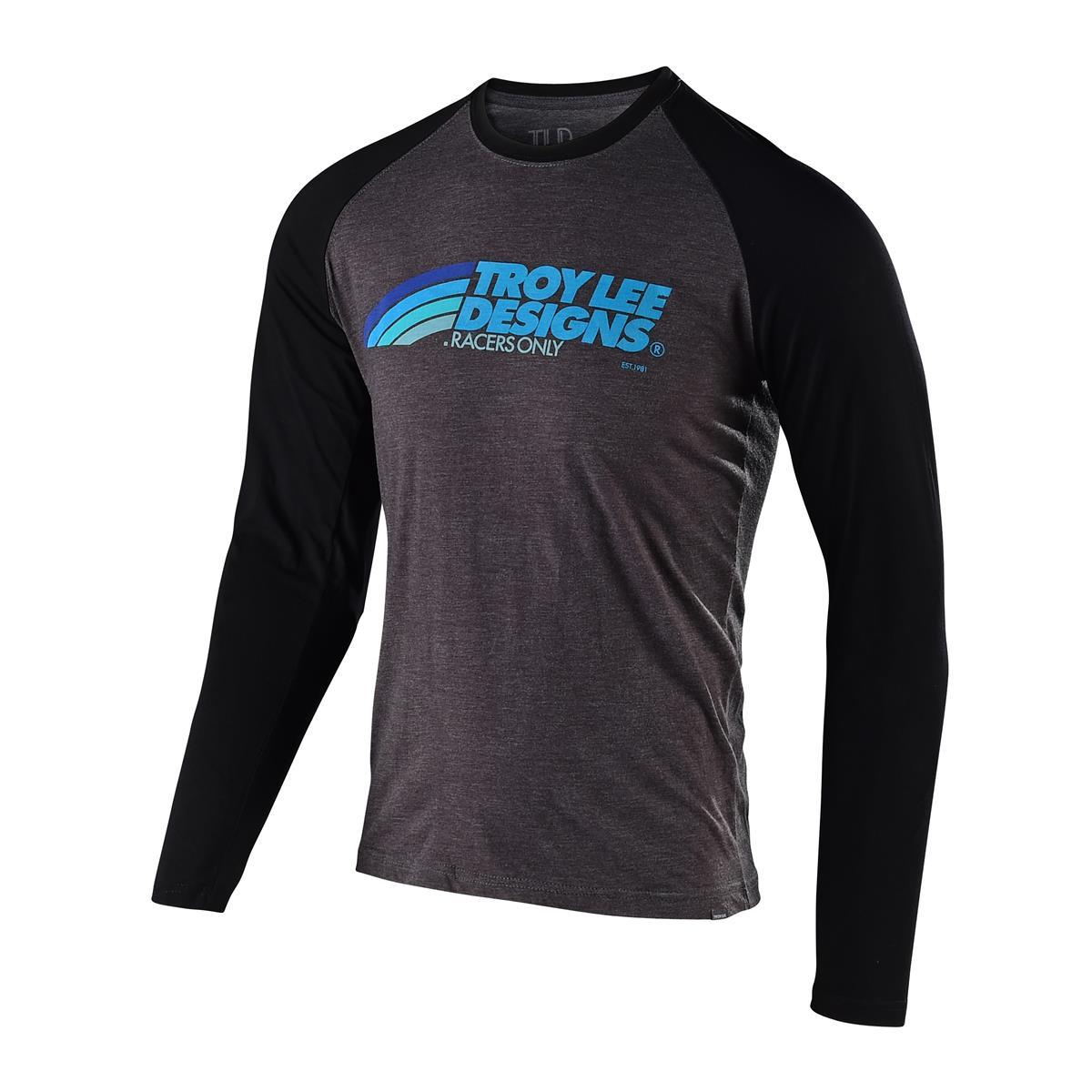 Troy Lee Designs Langarmshirt Velo Charcoal/Schwarz