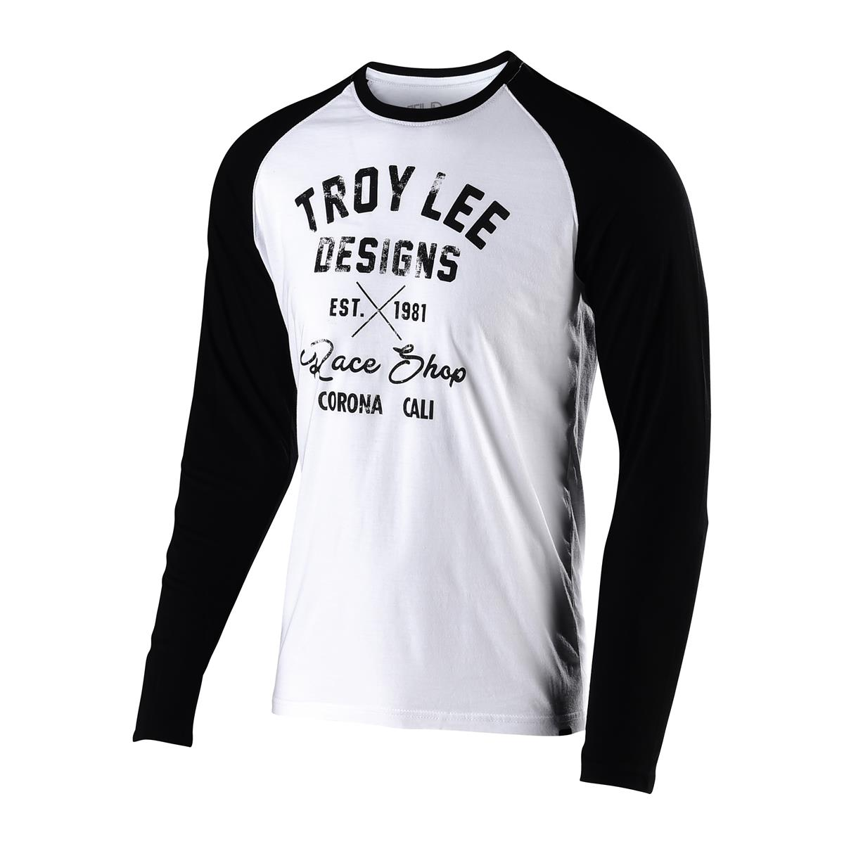 Troy Lee Designs Langarmshirt Vintage Race Shop Weiß/Schwarz