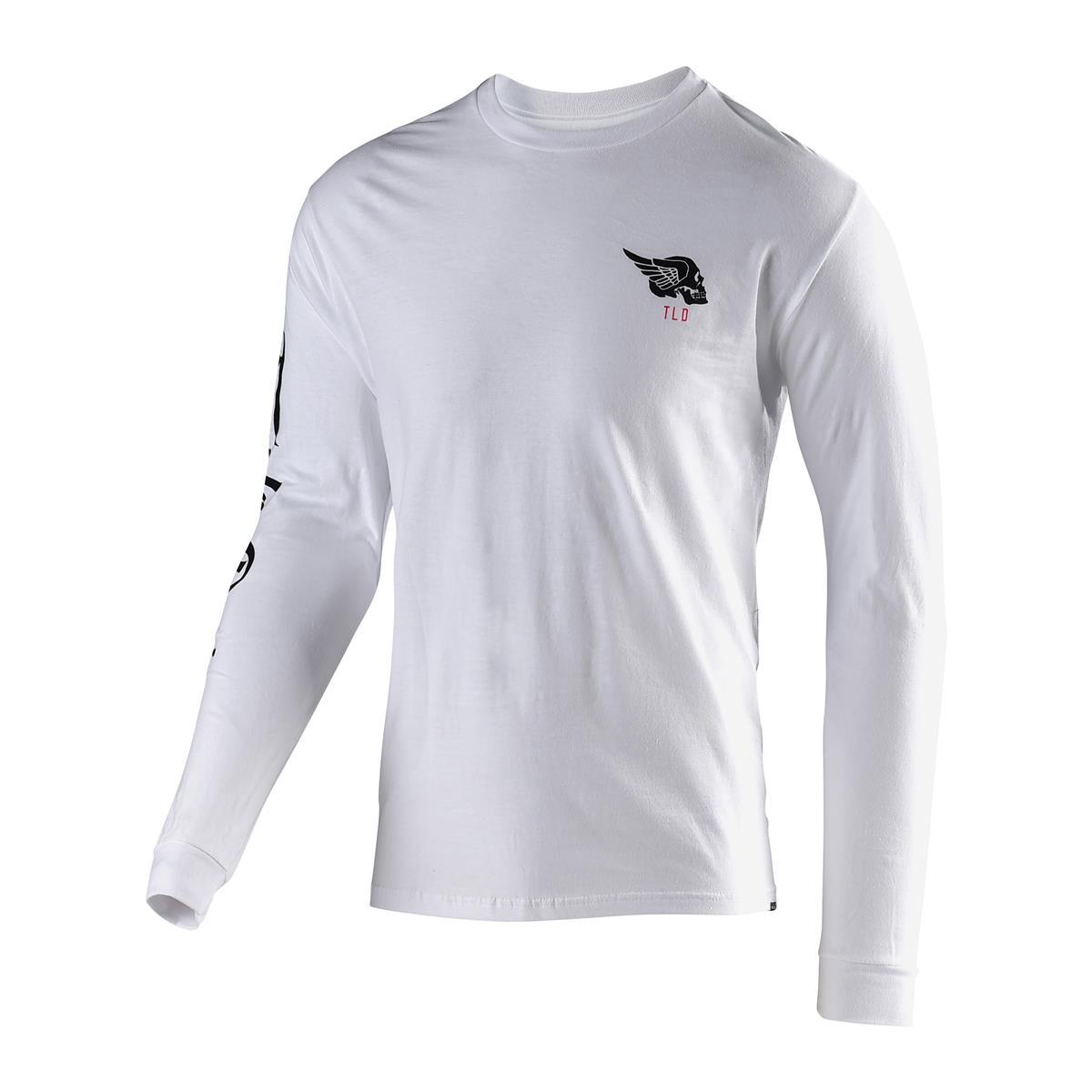 Troy Lee Designs Langarmshirt Skully Weiß
