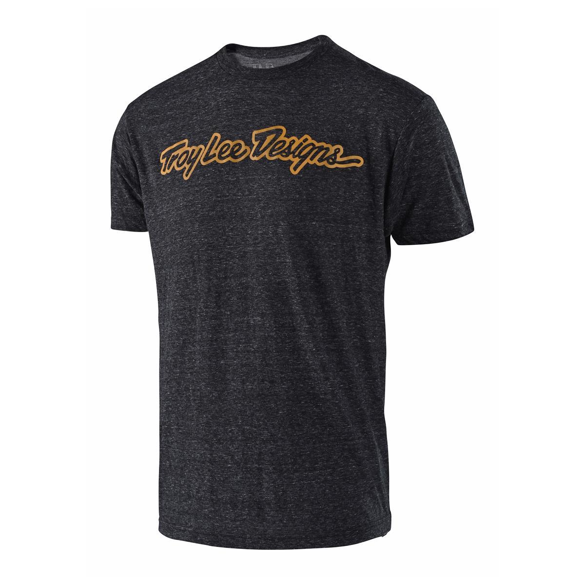 Troy Lee Designs T-Shirt Signature Onyx Snow/Bourbon