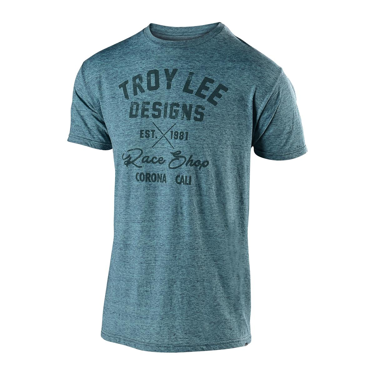 Troy Lee Designs T-Shirt Vintage Race Shop Lagoon Teal