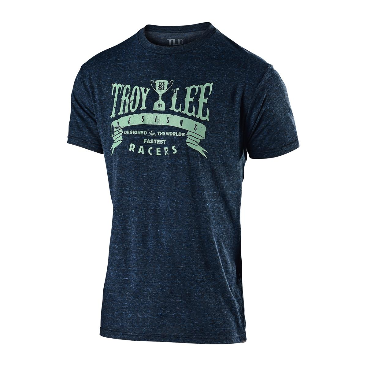 Troy Lee Designs T-Shirt Trophy Racers Midnight Blau