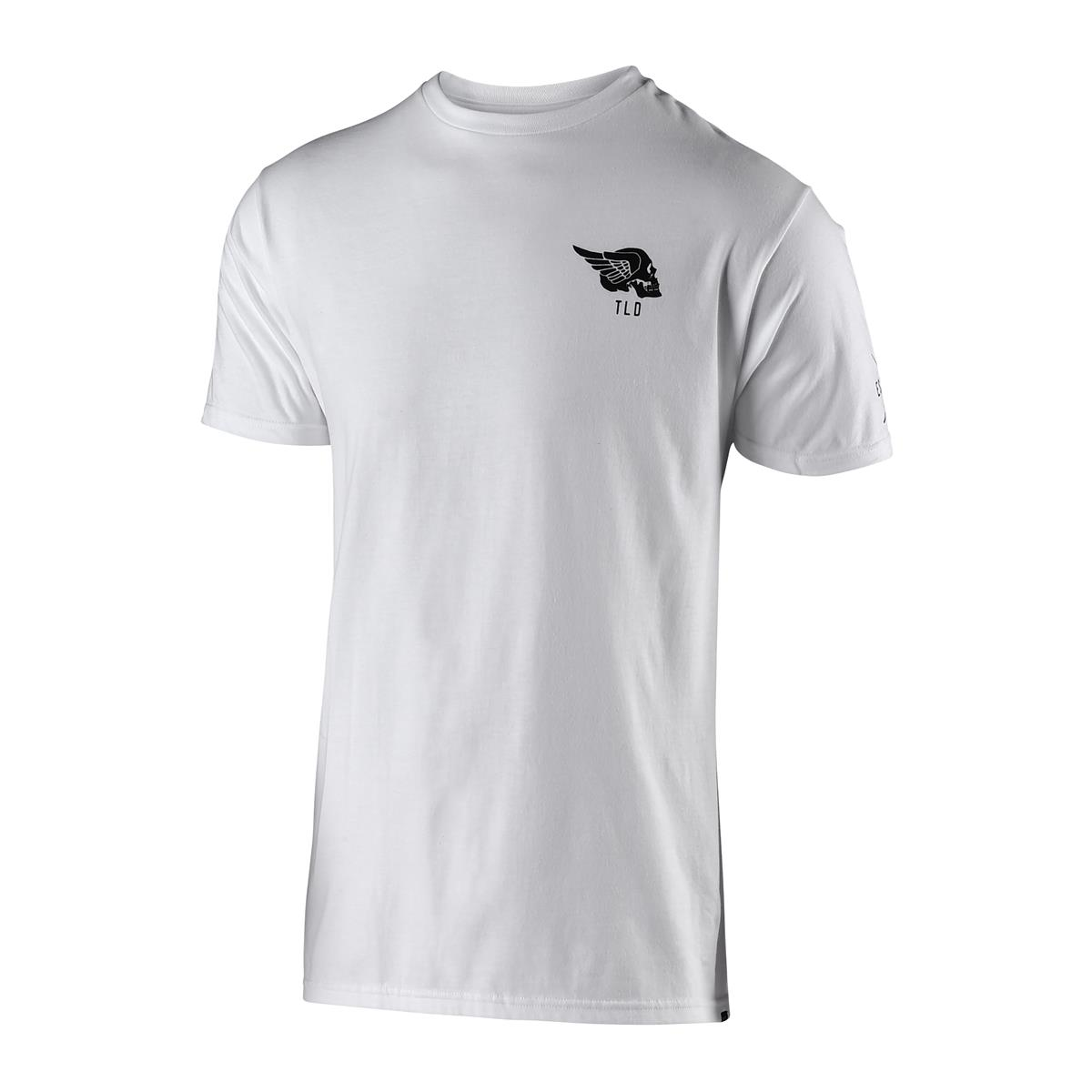 Troy Lee Designs T-Shirt Agent Skully Weiß