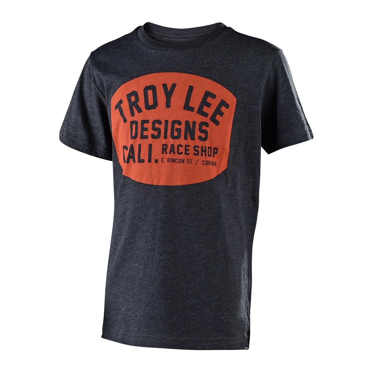 Troy Lee Designs Kids T-Shirt Blockworks Heather Charcoal