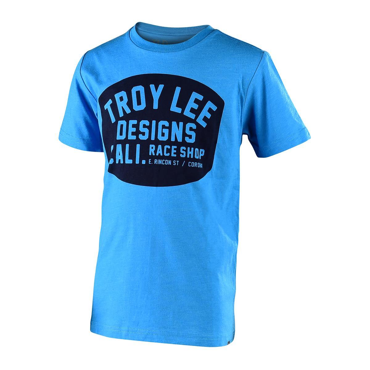 Troy Lee Designs Kids T-Shirt Blockworks Heather Turquoise
