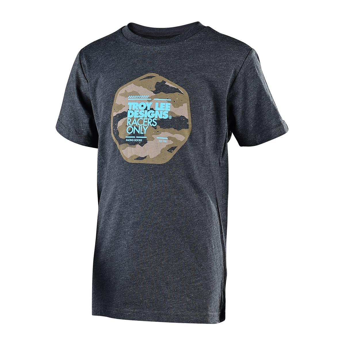 Troy Lee Designs Kids T-Shirt Race Camo Heather Charcoal