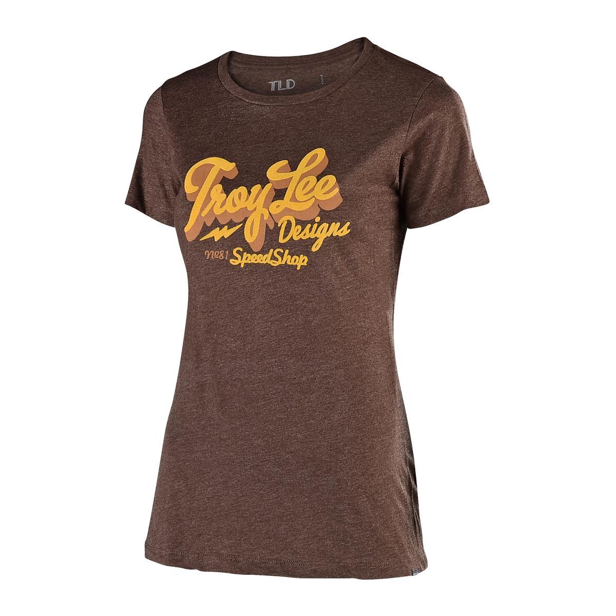 Troy Lee Designs Girls T-Shirt Vintage Speed Shop Espresso
