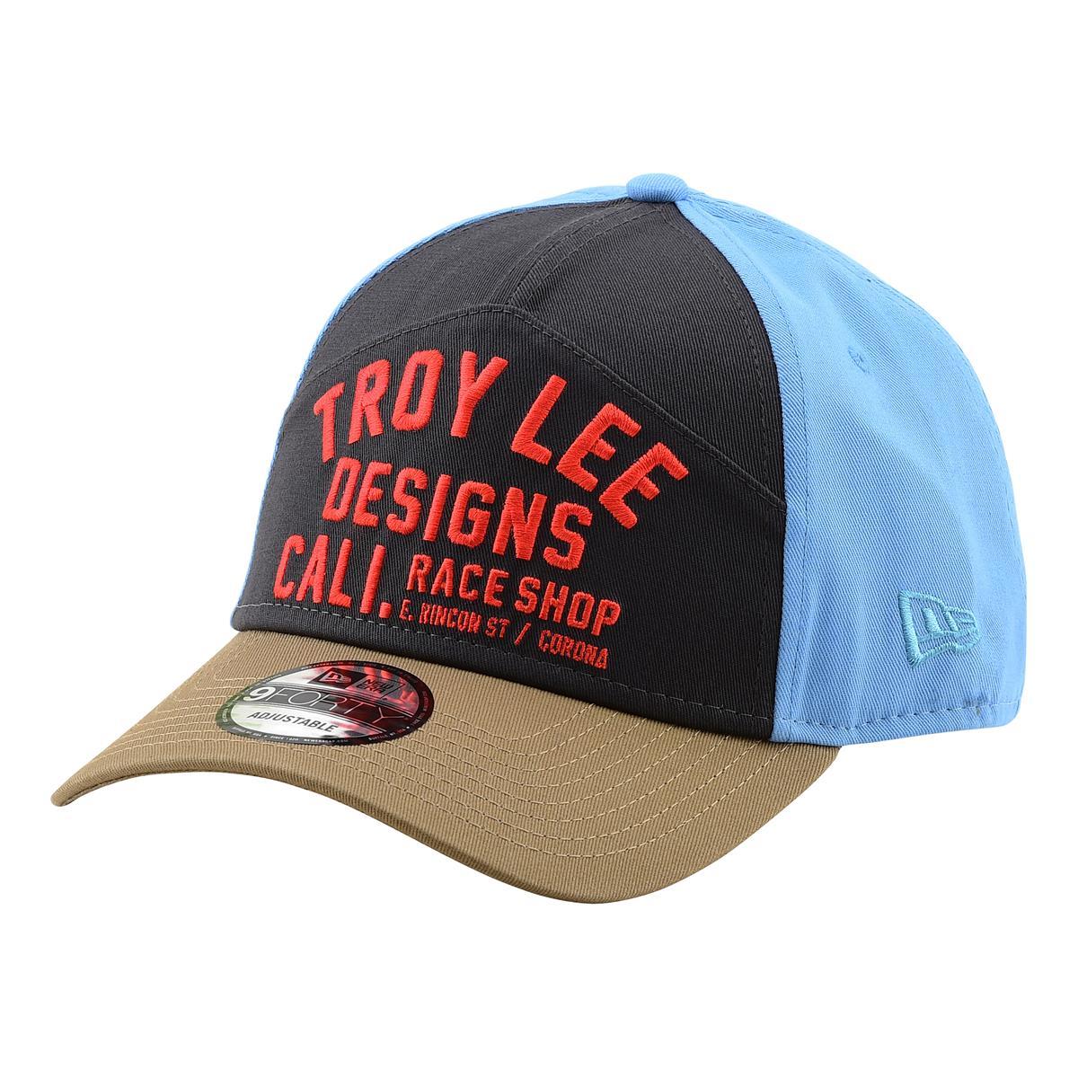 Troy Lee Designs Snapback Cap Peak Graphite Snow Gray